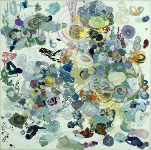 elementer og spiraler. 2012-15. olie på lærred. 60x60 cm